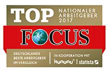 Focus Top-Arbeitgeber 2017