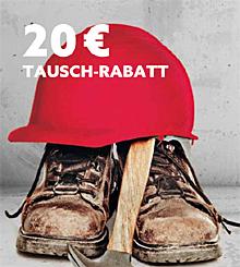 Schuhtausch-Aktion bei Raab Karcher in Mengen